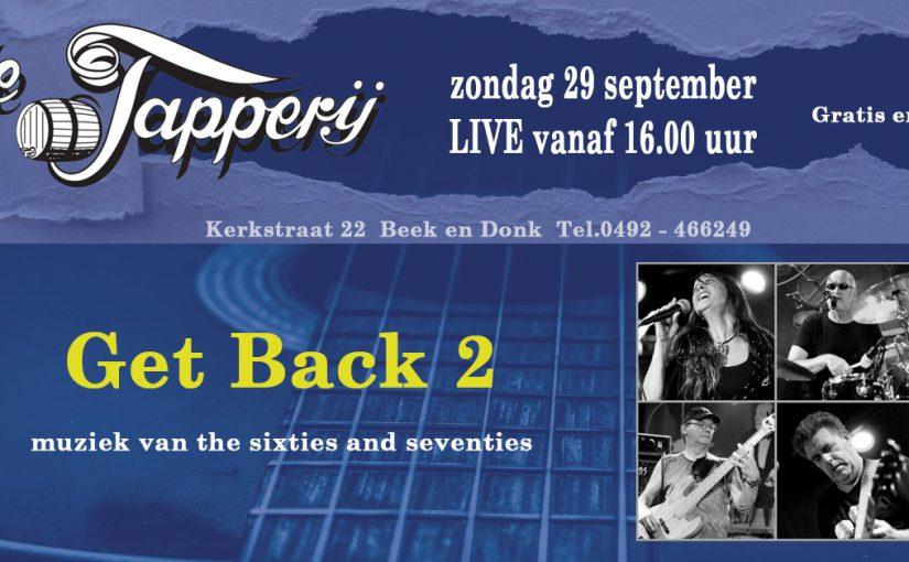 29 september 2019 : Live  Get Back 2