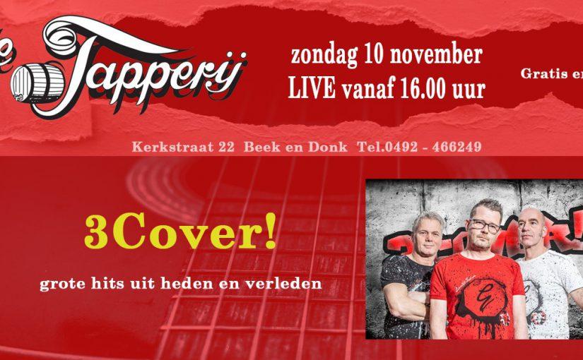 10 november: optreden 3cover